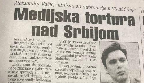 Šta je Vučić govorio o medijima pre tačno 20 godina? 2