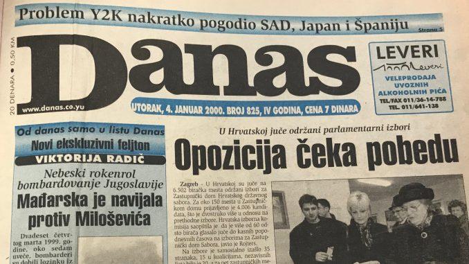 Šta je rekao Milošević u novogodišnjem obraćanju 2000. godine? 2