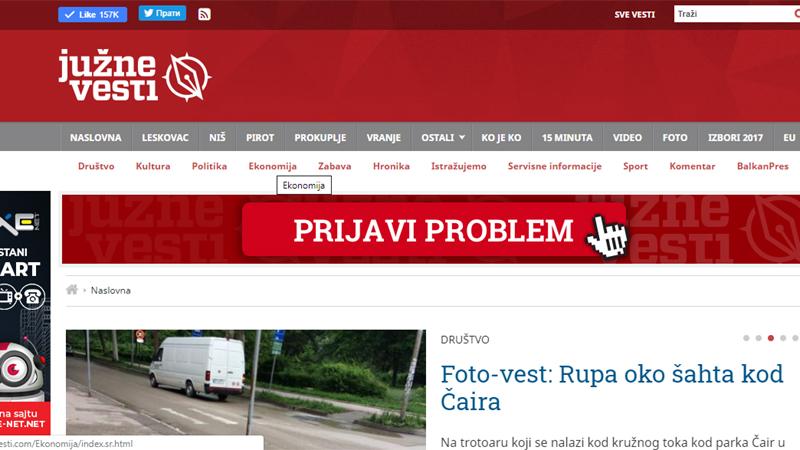 """Reporteri bez granica osudili kampanju kleveta protiv protala """"Južne vesti"""" 1"""
