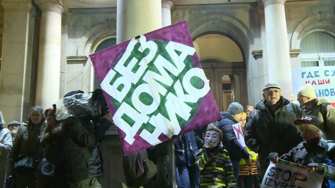 """Protest """"Stop rušenju ljudskih života"""" ispred Skupštine Beograda 3"""