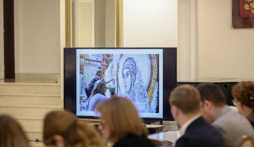 Završena izrada dela mozaika u Hramu Svetog Save 1