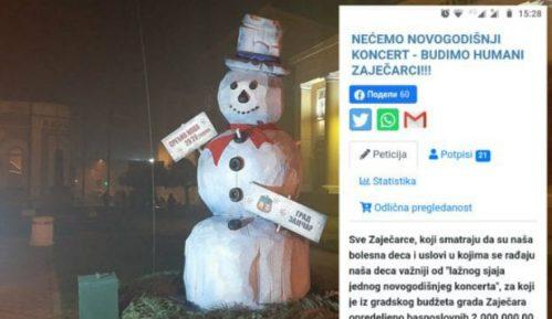 """Pokrenuta onlajn paticija """"Nećemo Novogodišnji koncert – budimo humani Zaječarci"""" 10"""