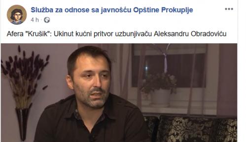 Hakovana Fejsbuk stranica Prokuplja, okačena vest o Aleksandru Obradoviću 15