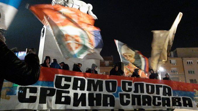 U Novom Sadu protest zbog Crne Gore, vladika Irinej na čelu kolone 4