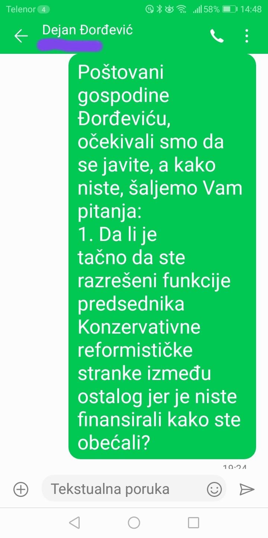 Novinarka Danasa: Đorđević je odgovorio na pitanja, postoje dokazi (FOTO) 2