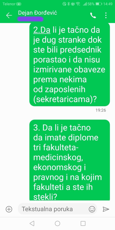 Novinarka Danasa: Đorđević je odgovorio na pitanja, postoje dokazi (FOTO) 3