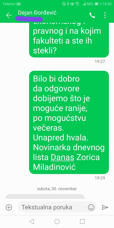 Novinarka Danasa: Đorđević je odgovorio na pitanja, postoje dokazi (FOTO) 4