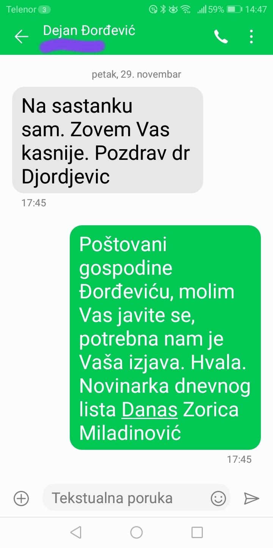 Novinarka Danasa: Đorđević je odgovorio na pitanja, postoje dokazi (FOTO) 5