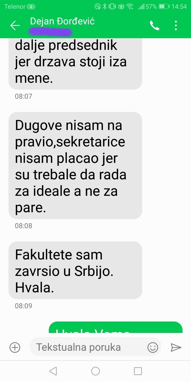 Novinarka Danasa: Đorđević je odgovorio na pitanja, postoje dokazi (FOTO) 7