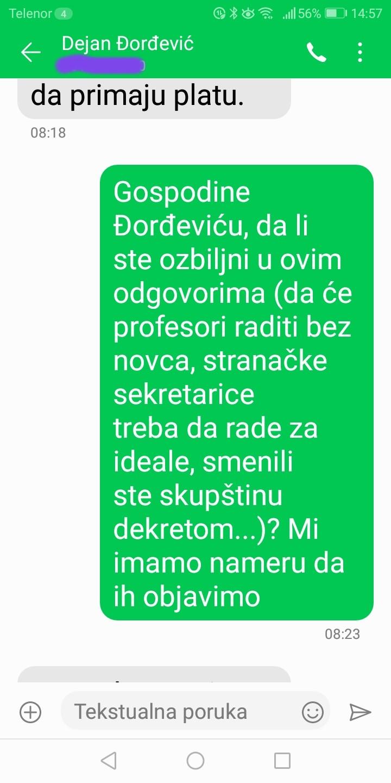 Novinarka Danasa: Đorđević je odgovorio na pitanja, postoje dokazi (FOTO) 10