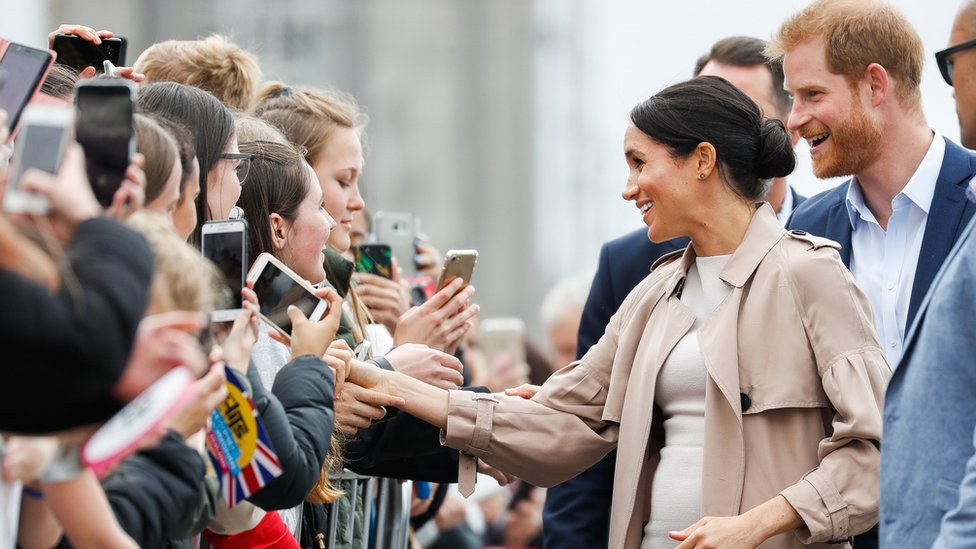 The Duke and Duchess of Sussex meeting crowds in Auckland, New Zealand