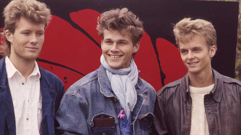 Mags Furuholmen, Morten Harket, Pal Waaktaar (a-ha) in 1987
