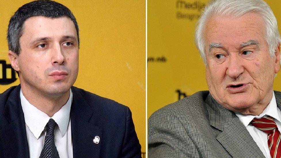 Boško Obradović i Dragoljub Mićunović