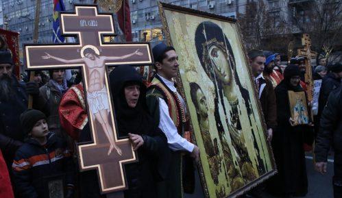 Moleban i litija u Čačku u znak podrške SPC u Crnoj Gori 14