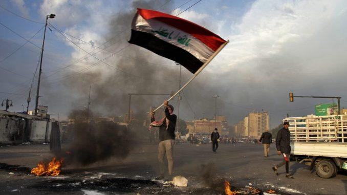 Irački antivladini demonstranti protestovali zbog napada Irana 3