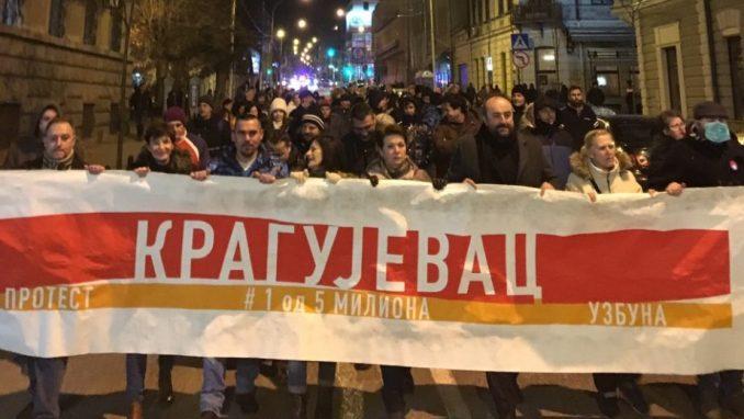 Protest u Kragujevcu: Da razbistrimo Srbiju i prodavce magle pošaljemo u političku istoriju 2