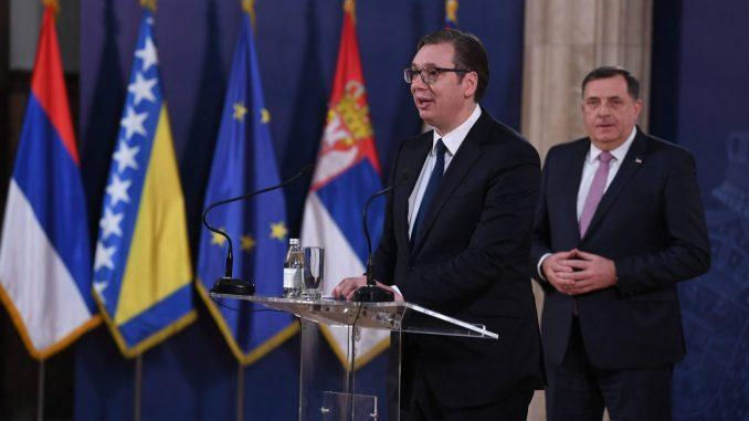 Vučić razgovarao s Dodikom: Nasušna potreba srpskog naroda je očuvanje mira 3