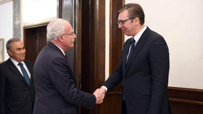 Vučić sa palestinskim ministrom inostranih poslova Rijadom Al-Malkijem o odnosima dve zemlje 2