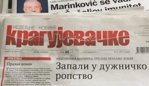 "NUNS: Sudbina nedeljnika ""Kragujevačke"" govori o propasti lokalnih nezavisnih medija 10"
