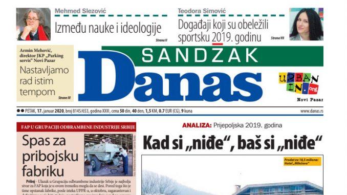 Sandžak Danas - 17. januar 2020. 1