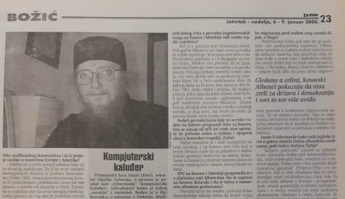 Sava Janjić pre 20 godina o nepostojanju rešenja za Kosovo 1