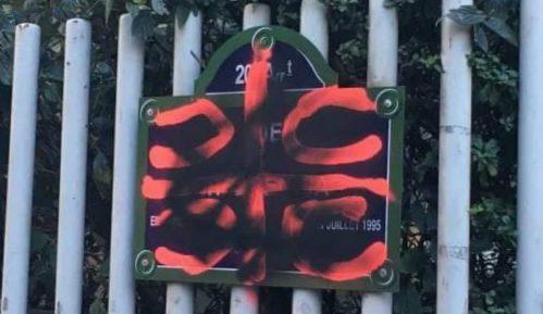 U Parizu oskrnavljena ploča s imenom Srebrenice 8