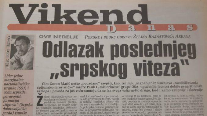 Svetski mediji se pre 20 godina pitali da li je beogradska vlast ubila Arkana 3