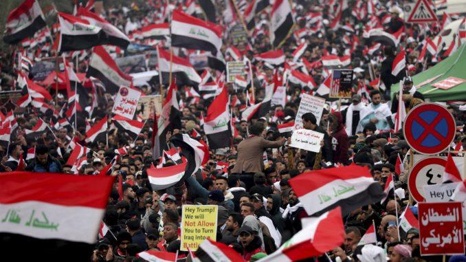 U Bagdadu hiljade demontranata traži odlazak američkih trupa 1
