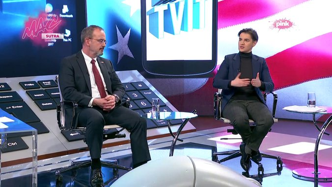 Brnabić:  Televizija N1 se pretvorila u političku stranku 1