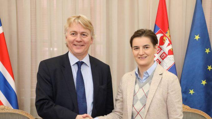 Brnabić i ambasador Norveške: Postoji mogućnost za razvoj ekonomske saradnje dve zemlje 2