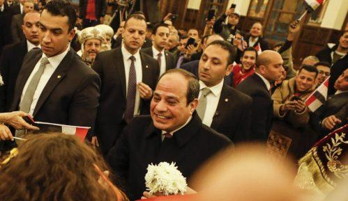 Predsednik Egipta među Koptima za Badnje veče 7