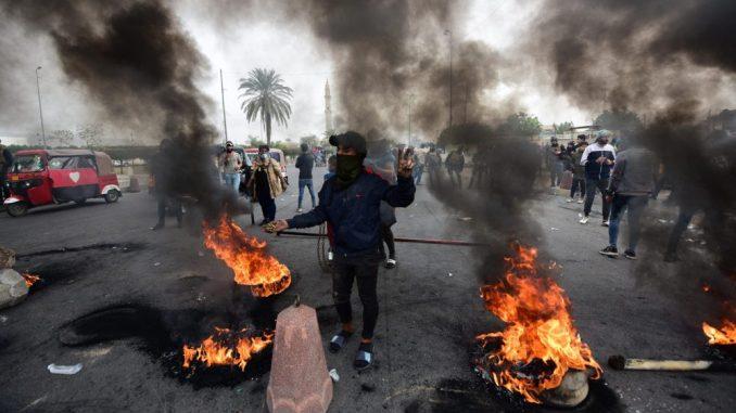 Desetine ranjene na novim protestima u Iraku 2