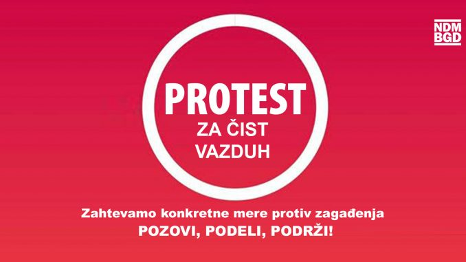 """Inicijativa Ne davimo Beograd 17. jauara organizuje """"Protest za čist vazduh"""" 4"""