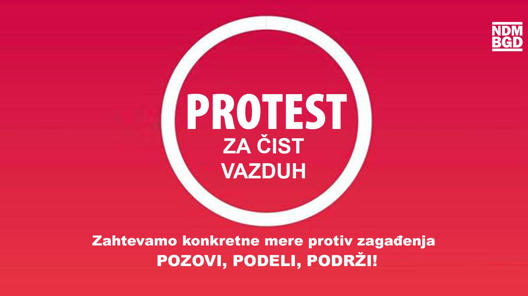 """Inicijativa Ne davimo Beograd 17. jauara organizuje """"Protest za čist vazduh"""" 1"""