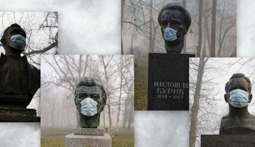 Omladina Narodne stranke prekrila biste maskama 15