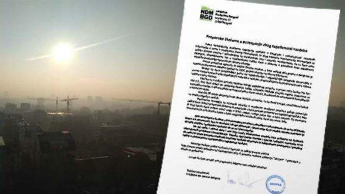 Inicijativa Ne davimo Beograd: Uputstvo za vrtiće i škole zbog zagađenog vazduha 2