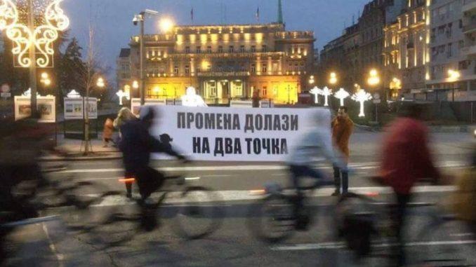 Biciklisti protiv praznih reči i obećanja Radojičića i Vesića 3