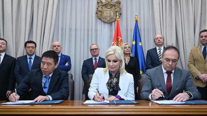 Potpisani sporazumi sa kineskom kompanijom za projekat prečišćavanja otpadnih voda u Beogradu 2