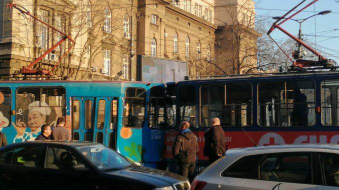 Sudar tramvaja kod Vukovog spomenika, sedam putnika povređeno 1