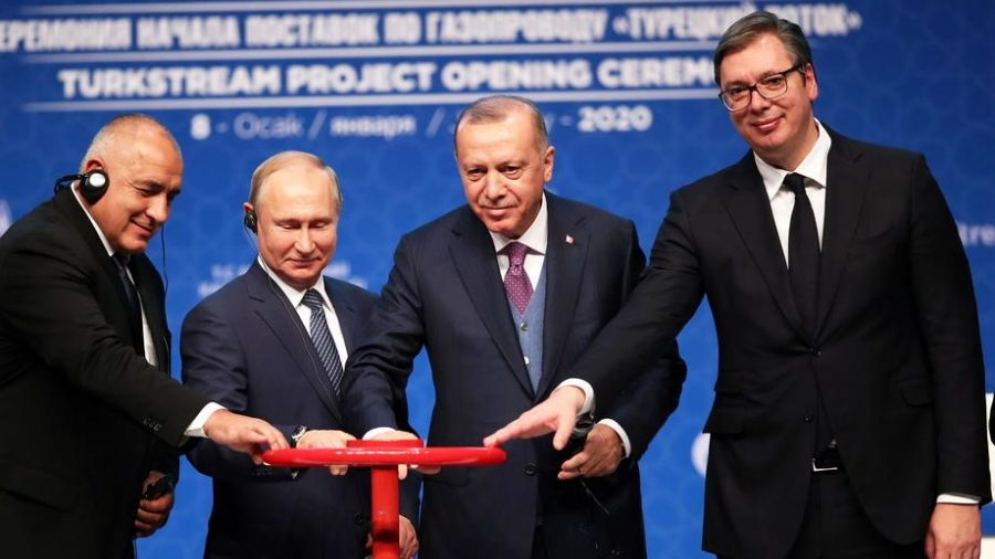 Prvi gas iz Turskog toka na proleće u Srbiji 1