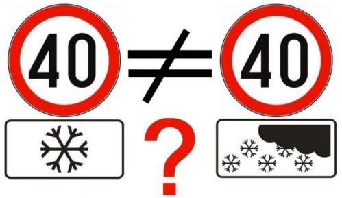"""""""Zimski"""" znak koji i dalje zbunjuje vozače 14"""