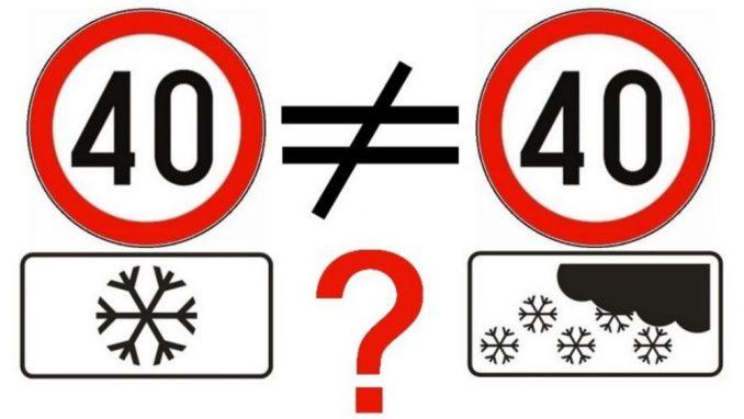 """""""Zimski"""" znak koji i dalje zbunjuje vozače 1"""