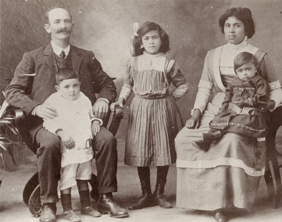 James Francis with his wife Christina Leonora and three of their children - perhaps Nora, Percival and Mary (on Christina's lap)