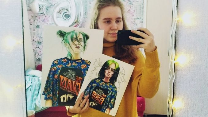 Bili Ajliš, Vog i ruska obožavateljka: Ko je tinejdžerka čiji je crtež Bili Ajliš završio na naslovnici Voga 1