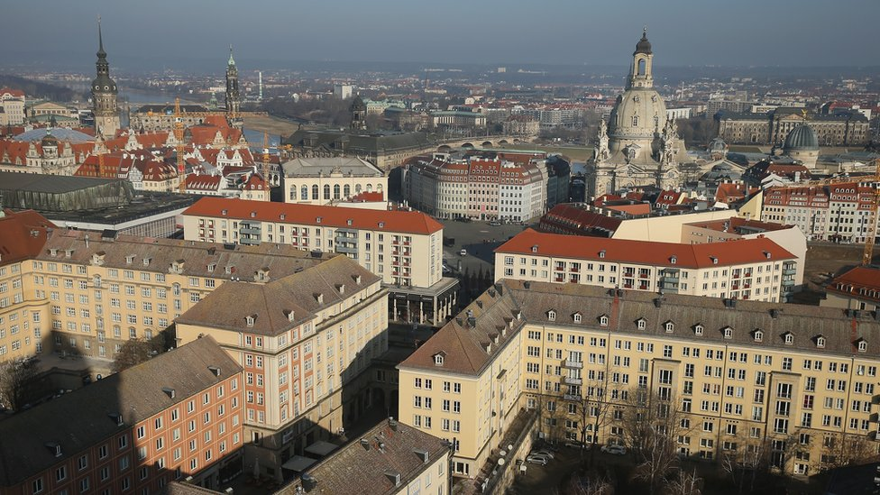 Dresden in 2015, largely recovered after the war