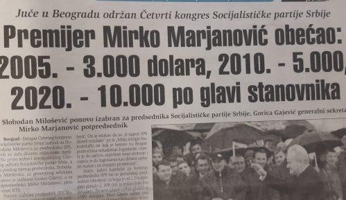 Mirko Marjanović za 2020. predviđao 10.000 dolara BDP po stanovniku 13