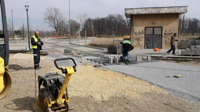 Pri kraju izgradnja Savske avenije u Šapcu 1