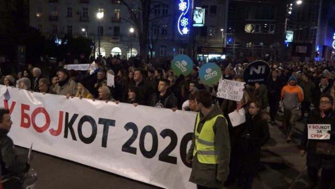 """Beograd: Umesto """"Jedan od pet miliona"""" protest """"U bojkot 2020"""" 3"""
