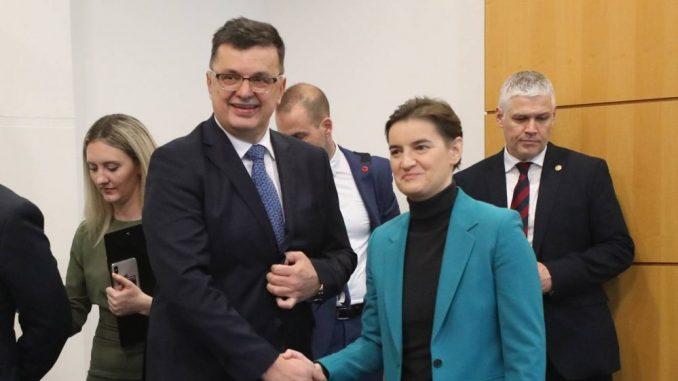 Brnabić i Tegeltija razgovarali o unapređenju saradnje Srbije i BiH 2