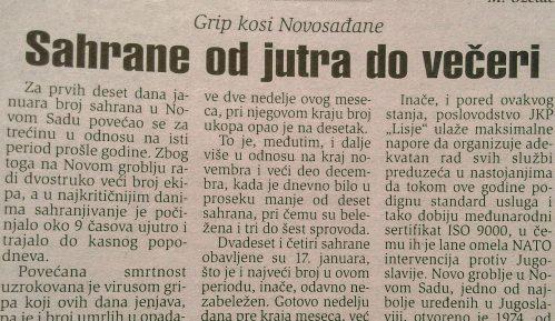 """Kako je grip pre dve decenije """"kosio"""" po Srbiji? 14"""